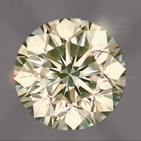 Brillant 4.3 mm, 0.33 Ct, Piqué