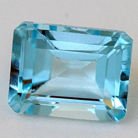 Topas in Sky Blue 8 x 6 mm, ca. 2 Ct