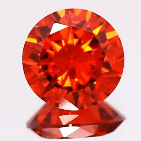 Rot-Orange Zirkonia 3 mm im Brillantschliff